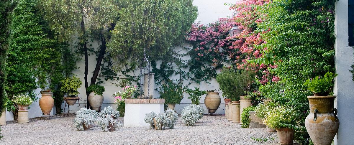 Patio del pozo palacio de viana for Fuentes para patios